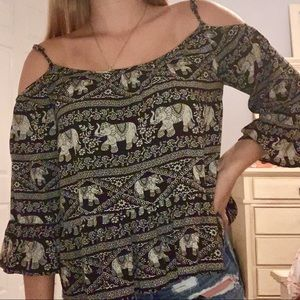 *Forever 21* Off The Shoulder Strap Blouse